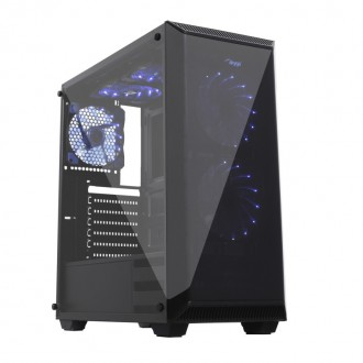 Nouvel ensemble: boîtier d'ordinateur Midi Tower ATX AKY015BK + 5 ventilateurs + alimentation 500W